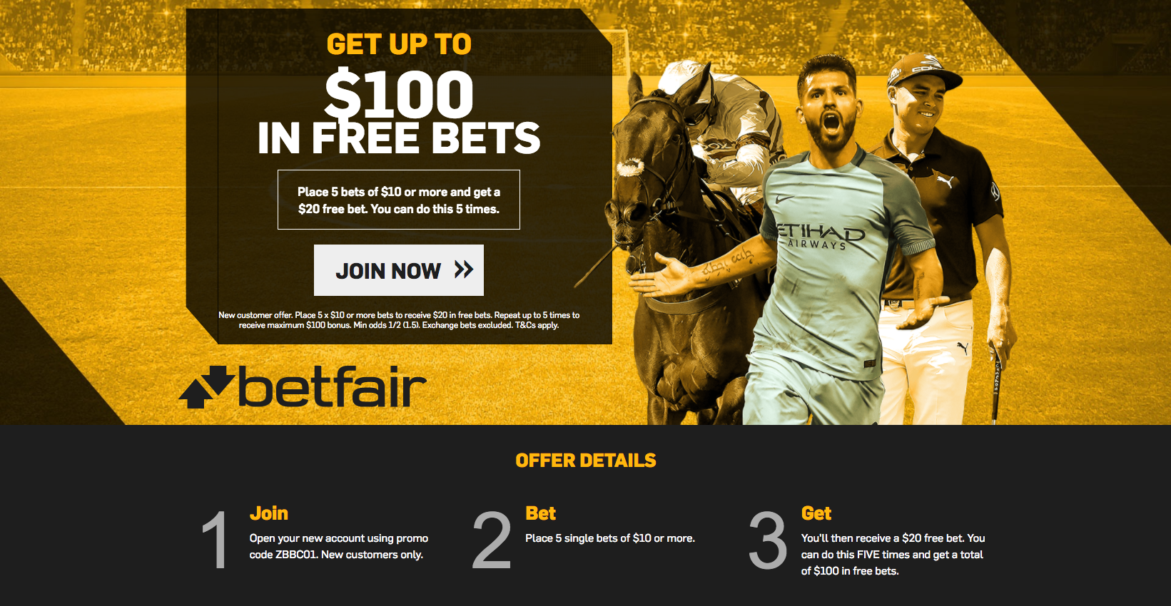 Betshare Monday offer - betfair
