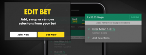 How to edit your sports acca bets