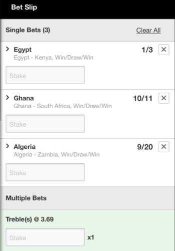 AFCON bet 14th November