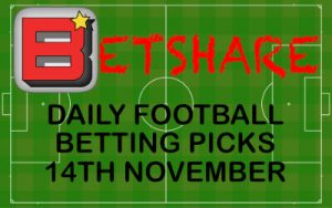 Daily Football Betting Picks – 14th Nov 2019