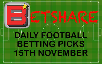 Daily Football betting picks – 15th Nov 2019