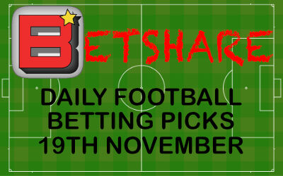 Daily Football Betting Picks – 19th Nov 2019