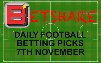 Daily Football betting picks – 7th Nov 2019