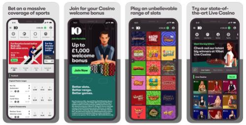 10bet app features