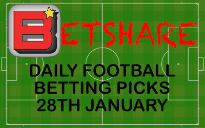 Daily football betting picks – 28th January