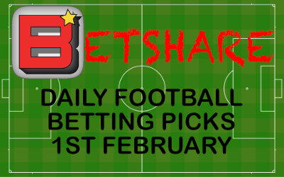 Daily Football Betting Picks – 1st February 2020