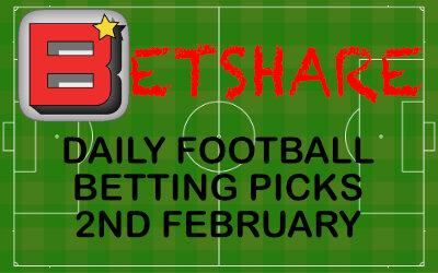 Daily Football Betting Picks – 2nd February 2020