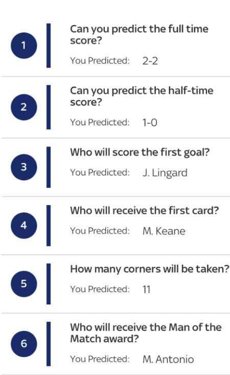 Super 6 Extra predictions